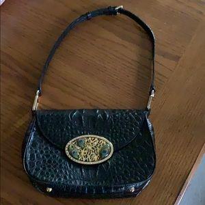 Debbie Brooks Croc Embossed Small Shoulder Bag